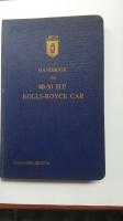 Rolls Royce 40-50 handbook