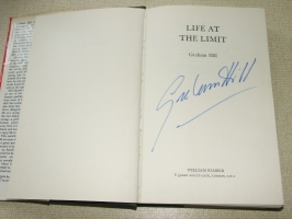 Life at The Limit signed copy by Graham Hill