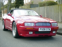 Aston Martin Virage Volante wide bodied car