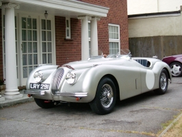 Ali bodied racing Tester Jaguar XK120.